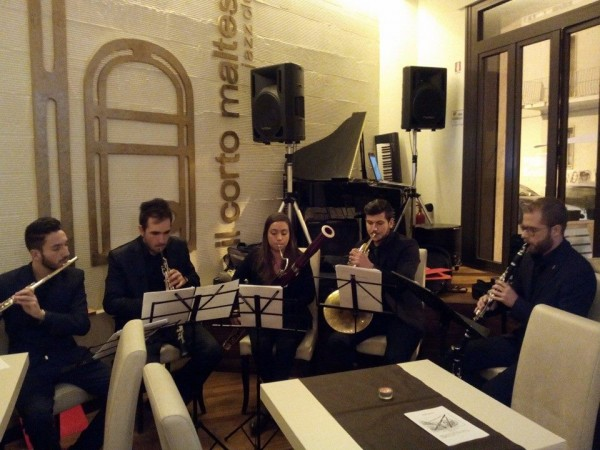 "on Thursday, 6th February – ""Quintet of winds""@ Corto Maltese Jazz Club"