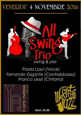Ven 4 Novembre – All Swing Trio