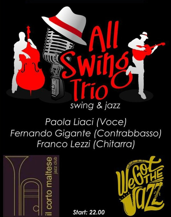 Ven 14 giugno- all Swing Trio in acustico