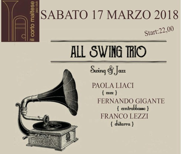 sab 17 marzo – All Swing Trio